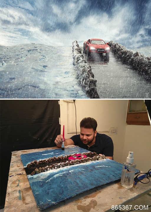 摄影师拍出最震撼的汽车广告 不出门也能拍汽车平面广告