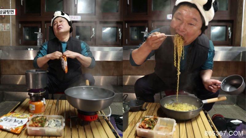 姜镐童:「我喜欢在泡面里加别的食材,所以安城汤面没有蔬菜包很好!」